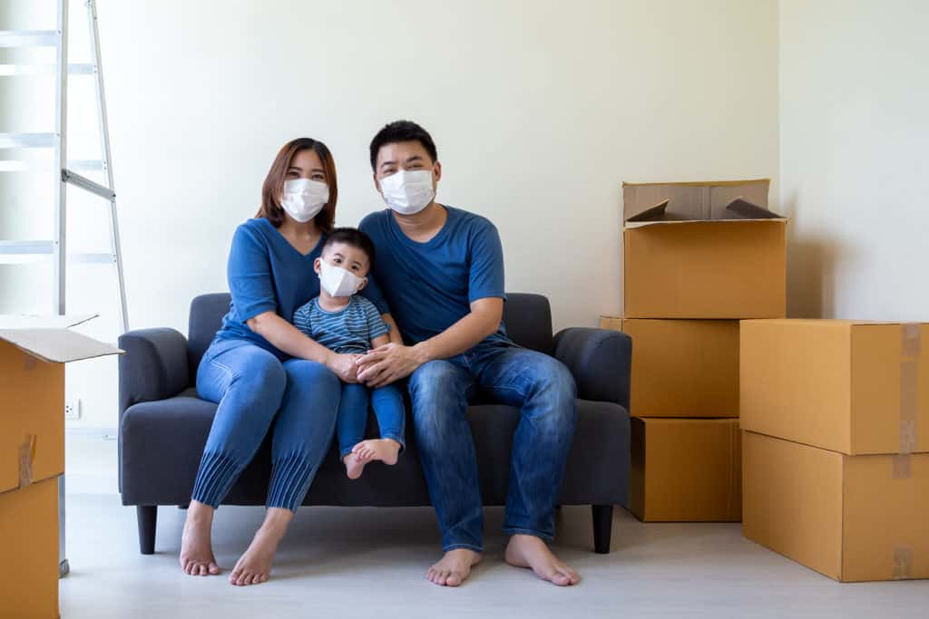 Family buying home during pandemic